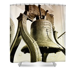 The Liberty Bell Shower Curtain by Bill Cannon