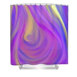 The Light Of The Feminine Ray Shower Curtain by Daina White