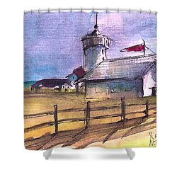 The Lighthouse Shower Curtain by Diane Strain