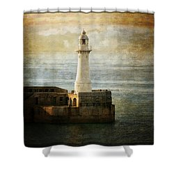 The Lighthouse Shower Curtain by Lucinda Walter