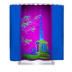 The Lights On Shower Curtain by Bobbee Rickard