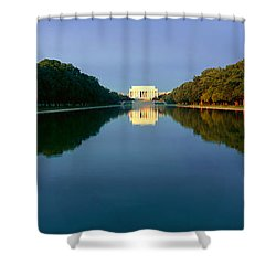 The Lincoln Memorial At Sunrise Shower Curtain by Panoramic Images