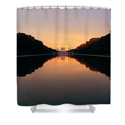The Lincoln Memorial At Sunset Shower Curtain by Panoramic Images