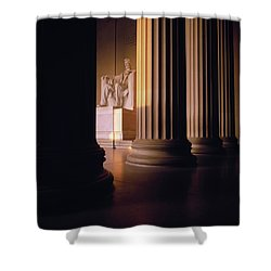 The Lincoln Memorial In The Morning Shower Curtain by Panoramic Images