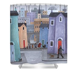 The Little Ones Shower Curtain by Peter Adderley