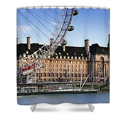 The London Eye And County Hall Shower Curtain by Rod McLean