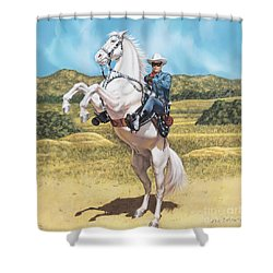 The Lone Ranger Shower Curtain by Dick Bobnick