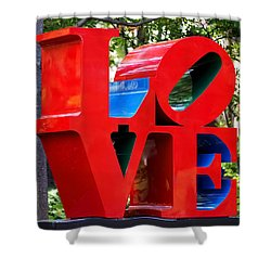 The Look Of Love Shower Curtain by Rona Black