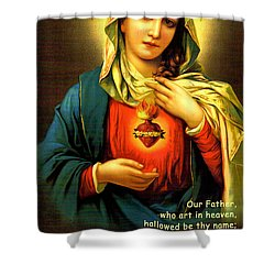 The Lord's Prayer Shower Curtain by Barbara Snyder