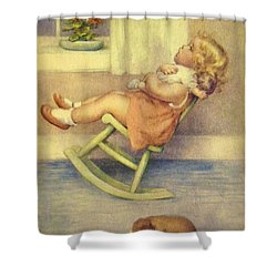 The Lullaby Shower Curtain by Bessie Pease Gutmann