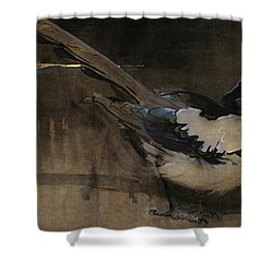 The Magpie Shower Curtain by Joseph Crawhall