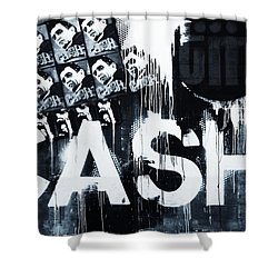 The Man In Black Shower Curtain by Dan Sproul