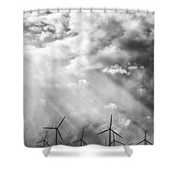 The Mighty Wind Palm Springs Shower Curtain by William Dey