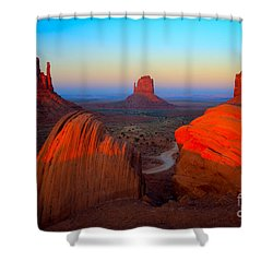 The Mittens Shower Curtain by Inge Johnsson
