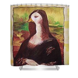 The Mona Goosa Shower Curtain by Margaret Bobb