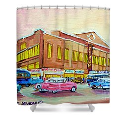 The Montreal Forum Shower Curtain by Carole Spandau