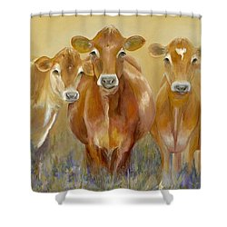 The Morning Moo Shower Curtain by Catherine Davis