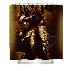 The Mummy Document Shower Curtain by John Malone