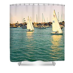 The Mystery Of Sailing Shower Curtain by Angela A Stanton