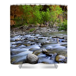 The Narrows A Place To Pause Shower Curtain by Bob Christopher