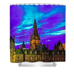 The Night Of The Thousand Spells Shower Curtain by Eti Reid