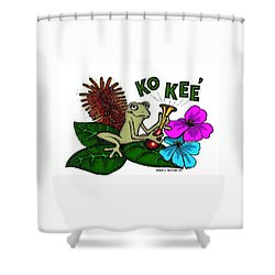 The Night Sound Of Puerto Rico Shower Curtain by Frank Hunter