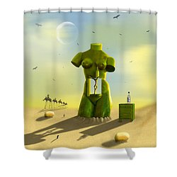 The Nightstand Shower Curtain by Mike McGlothlen