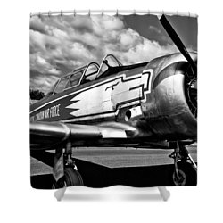 The North American T-6 Texan Shower Curtain by David Patterson