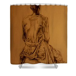 The Observer Shower Curtain by Derrick Higgins