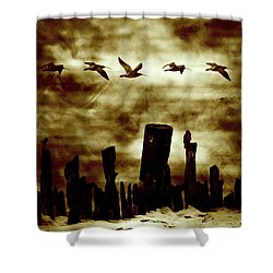 The Old Fence  Shower Curtain by Toppart Sweden