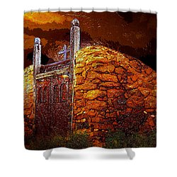 The Old Gates Of Galisteo Shower Curtain by David Lee Thompson