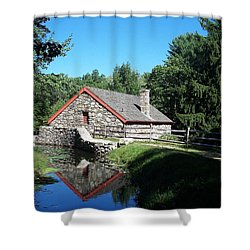 The Old Grist Mill Shower Curtain by Georgia Hamlin