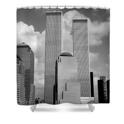 The Old Wtc Shower Curtain by Joann Vitali