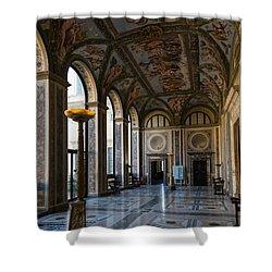 The Opulent Loggia In Villa Farnesina Rome Italy - 1 Shower Curtain by Georgia Mizuleva