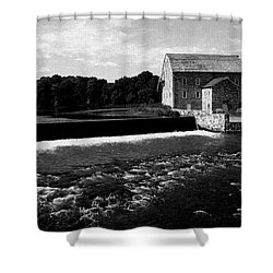 The Other Mill Shower Curtain by Val Arie