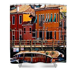 The Painters Eye In Venice Shower Curtain by Ira Shander