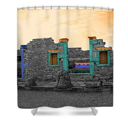 The Palaestra - Kourion-apollon Shower Curtain by Augusta Stylianou