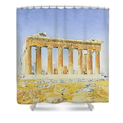 The Parthenon Shower Curtain by Thomas Hartley Cromek