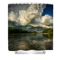 The Passing Storm Shower Curtain by Everet Regal