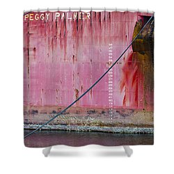 The Peggy Palmer Barge Shower Curtain by Carolyn Marshall