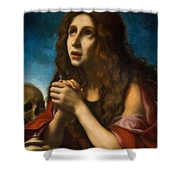 The Penitent Magdalen Shower Curtain by Carlo Dolci