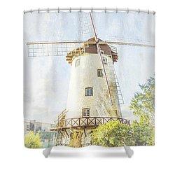 The Penny Royal Windmill Shower Curtain by Elaine Teague