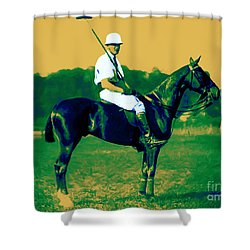 The Polo Player - 20130208 Shower Curtain by Wingsdomain Art and Photography