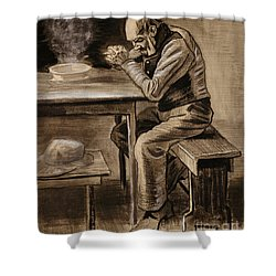The Prayer Shower Curtain by Vincent Van Gogh
