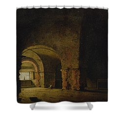 The Prisoner, C.1787-90 Oil On Canvas Shower Curtain by Joseph Wright of Derby
