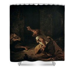 The Prisoner Of Chillon Shower Curtain by Ferdinand Victor Eugene Delacroix