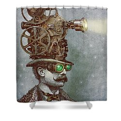 The Projectionist Shower Curtain by Eric Fan