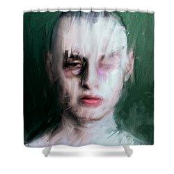 The Pugilist Shower Curtain by H James Hoff