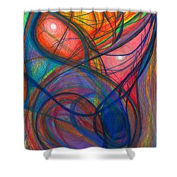 The Pulse Of The Heart Lies Strong Shower Curtain by Daina White