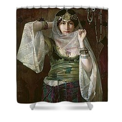 The Queen Of The Harem Shower Curtain by Max Ferdinand Bredt